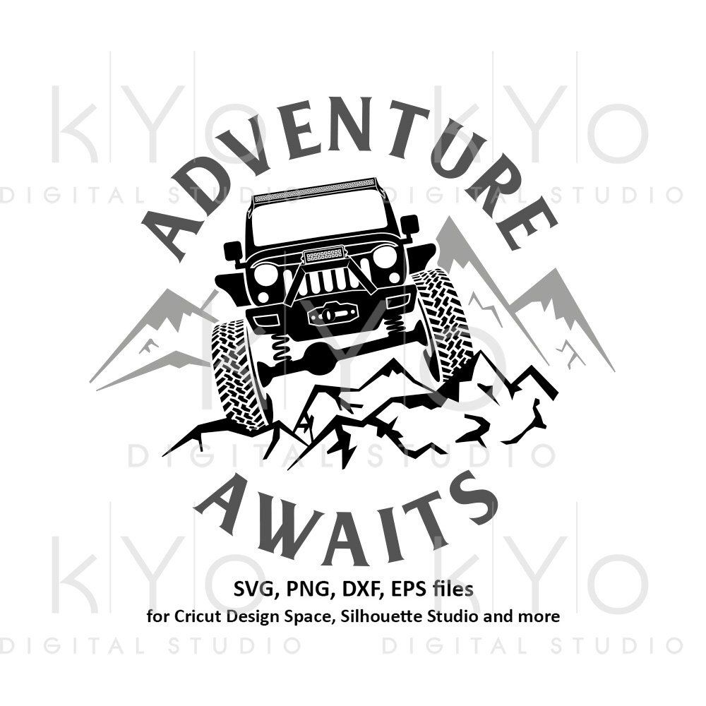 Jeep Wrangler Svg Adventure Awaits Svg Explore Offroad 4x4 Svg Distressed Jeep Adventure Shirt Svg Files For Cricut Silh Jeep Wrangler Jeep Drawing Jeep Shirts