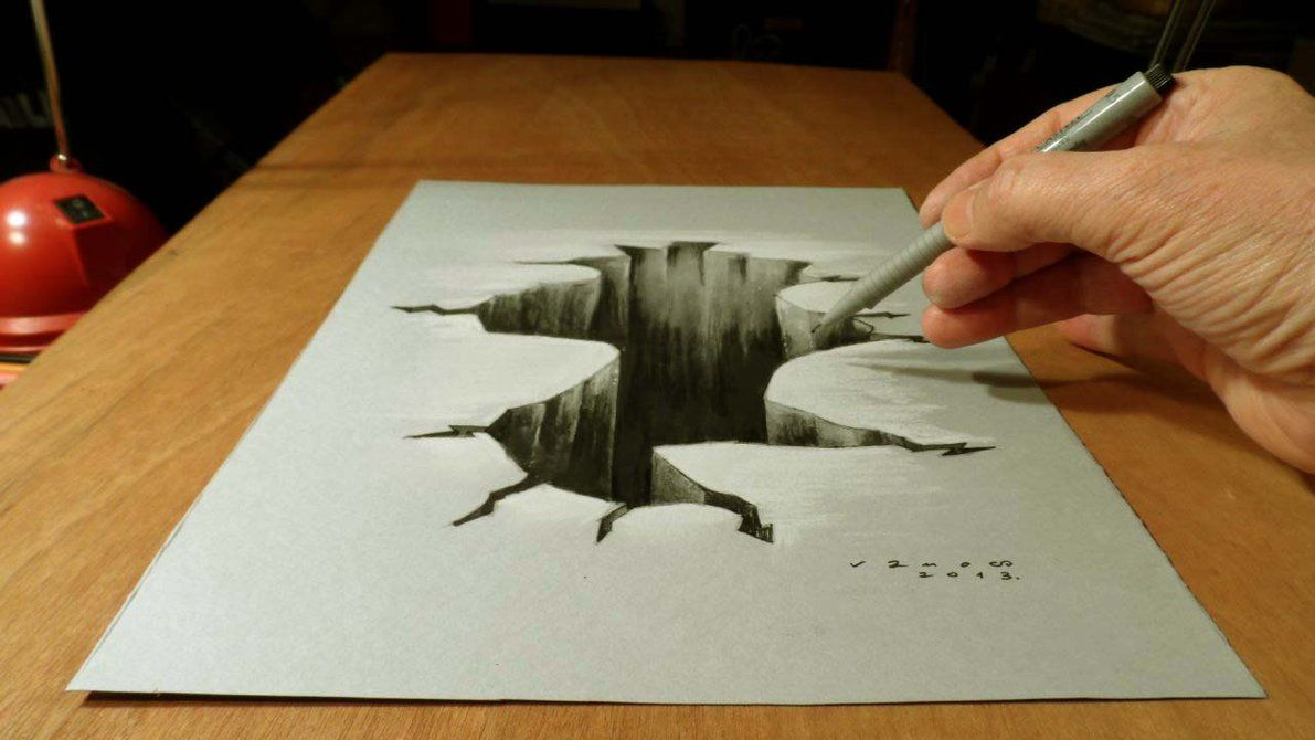 Simple 3D Pencil Drawing Pencil Sketch