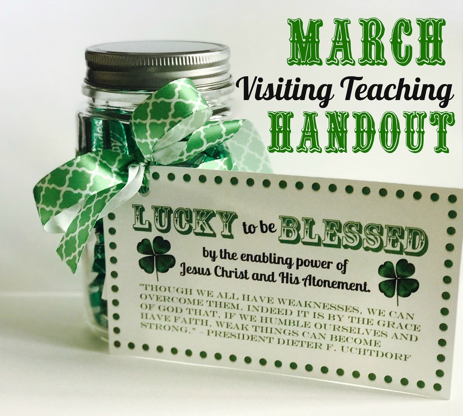 March Visiting Teaching Handout Free Download From Marci