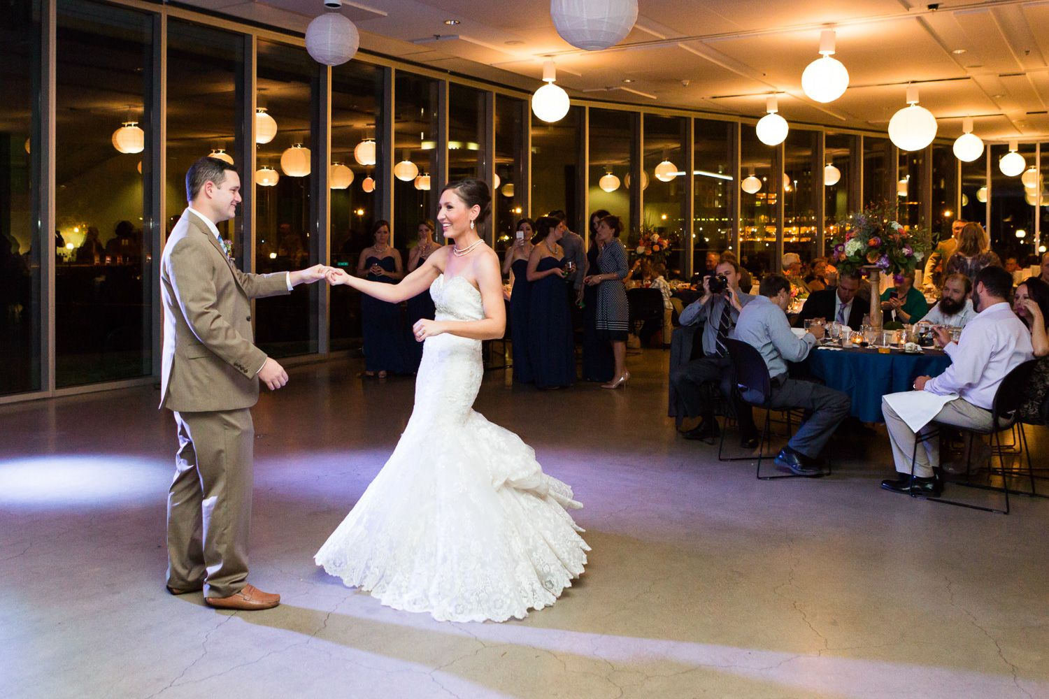 The couple's first dance as husband and wife. The