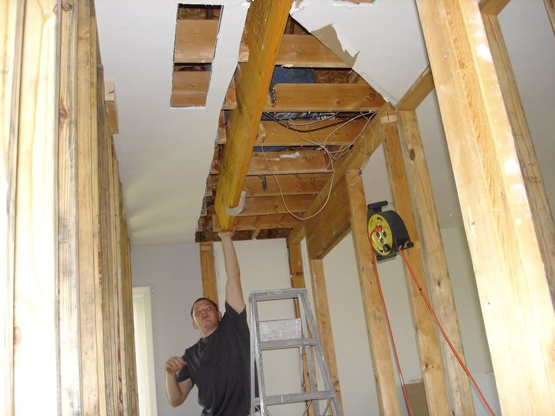 Install Support Walls Then Cut Into Joists Install