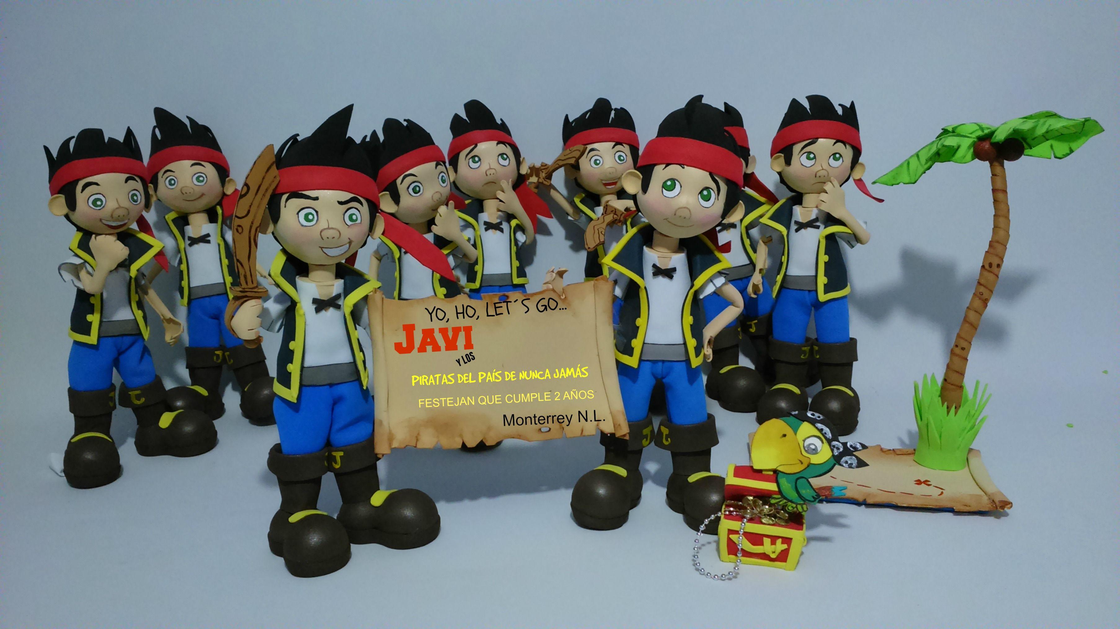 JAKE Y LOS PIRATAS DE NUNCA JAMAS!!!  Todos los diseños, realizado en foami  se encuentran basados en los personajes originales. Los Derechos de los mismos pertenecen al autor del personaje