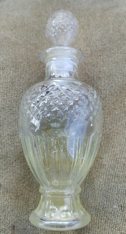Avon Glass Bottles : glass, bottles, Vintage, Glass, Bottle, Decanter., Perfume, Bottles,, Decanters,, Collectibles
