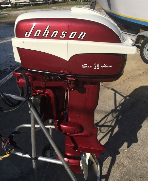 1957 35 hp Johnson Restored Outboard Boat Motor For Sale | Kiekaefer