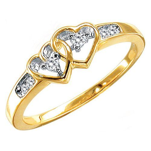 Two wedding rings interlinked economy Fashion wedding shop