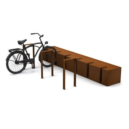 mobilier urbain multifonctions en corten people pinterest cycle stand urban planning and. Black Bedroom Furniture Sets. Home Design Ideas