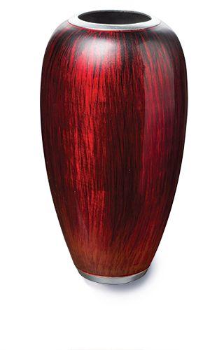 Fairtrade Recycled Aluminium Enamel Finished Vase Red £32.00