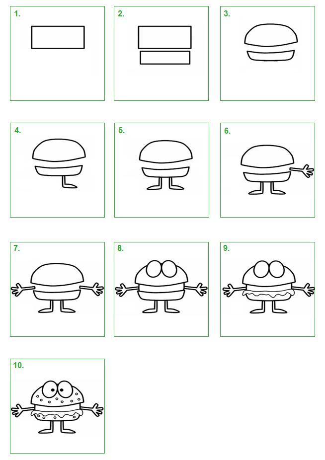Hamburger leer stap voor stap hoe je zelf een hamburger for Ontruimingsplattegrond zelf tekenen