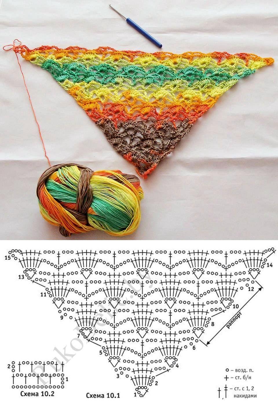 Crochet Shawl | Schals | Pinterest | Chal, Ganchillo y Ponchos