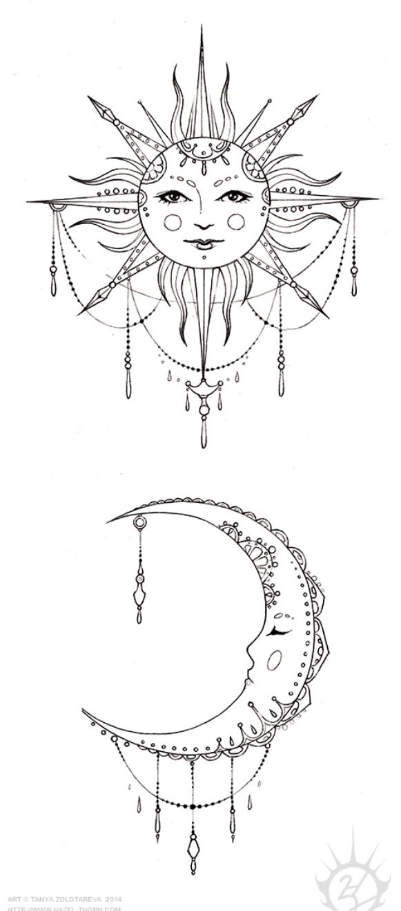 Sun And Moon Design Moon Tattoo Designs Tattoos Inspirational