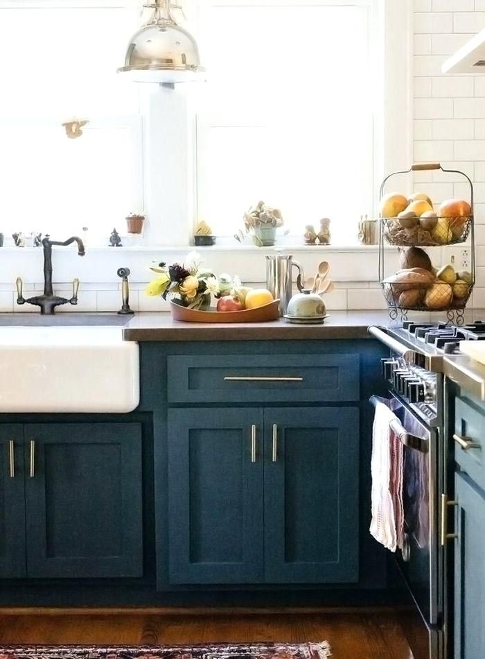 Teal Walls White Cabinets Blue Kitchen Walls White ...