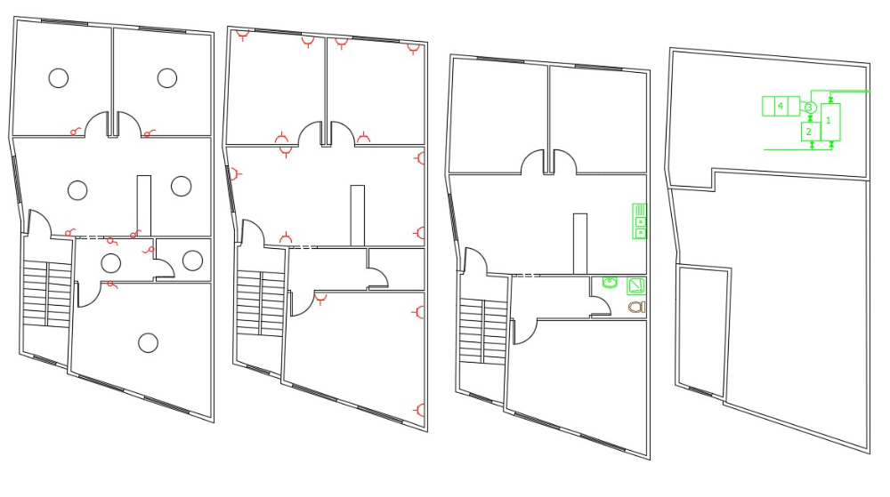 2 BHK House Wiring Plan And Sanitary Ware Design in 2020