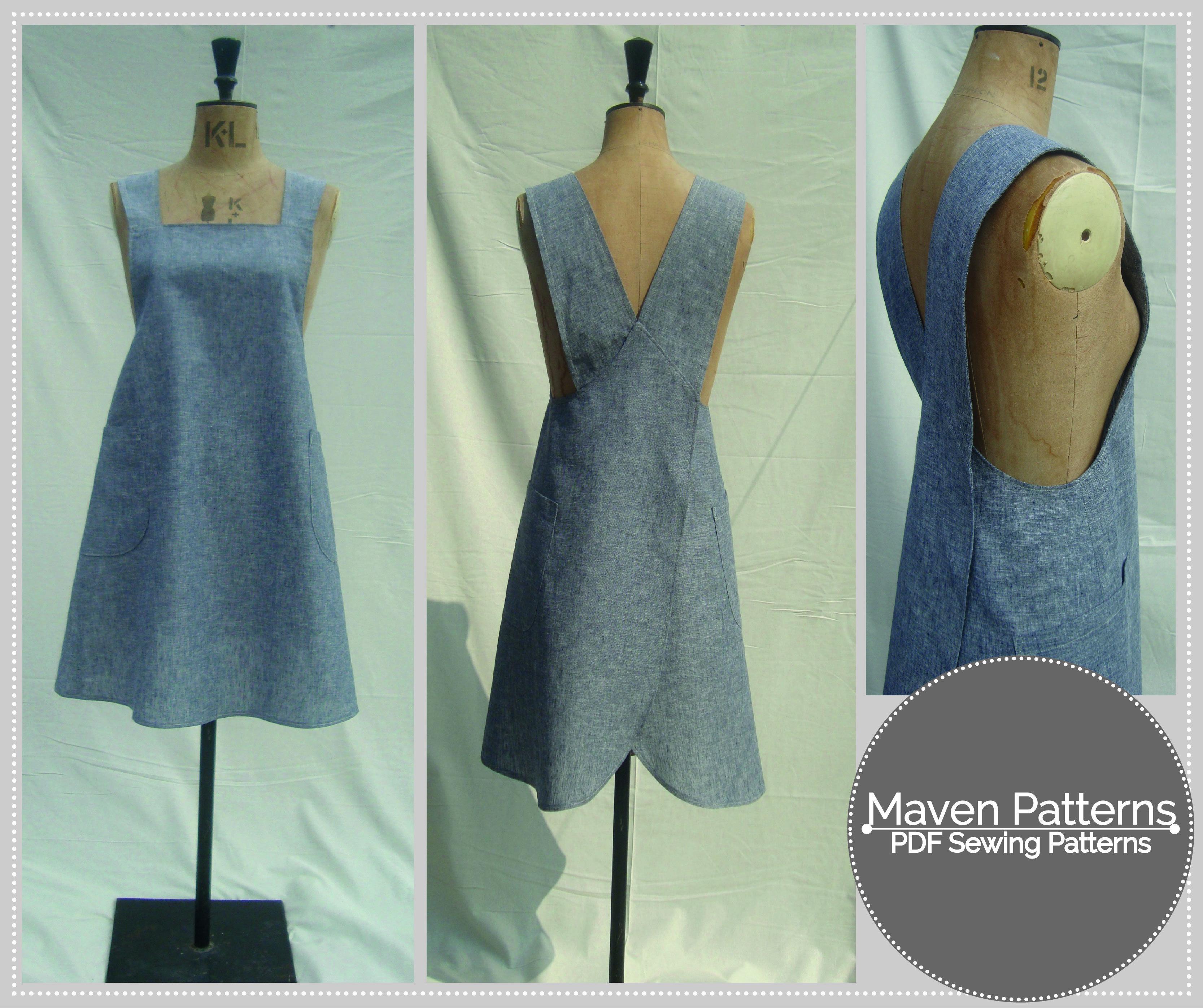 The Maria Wrap Apron by Maven Patterns   Nähen, Nähideen und Kleidung