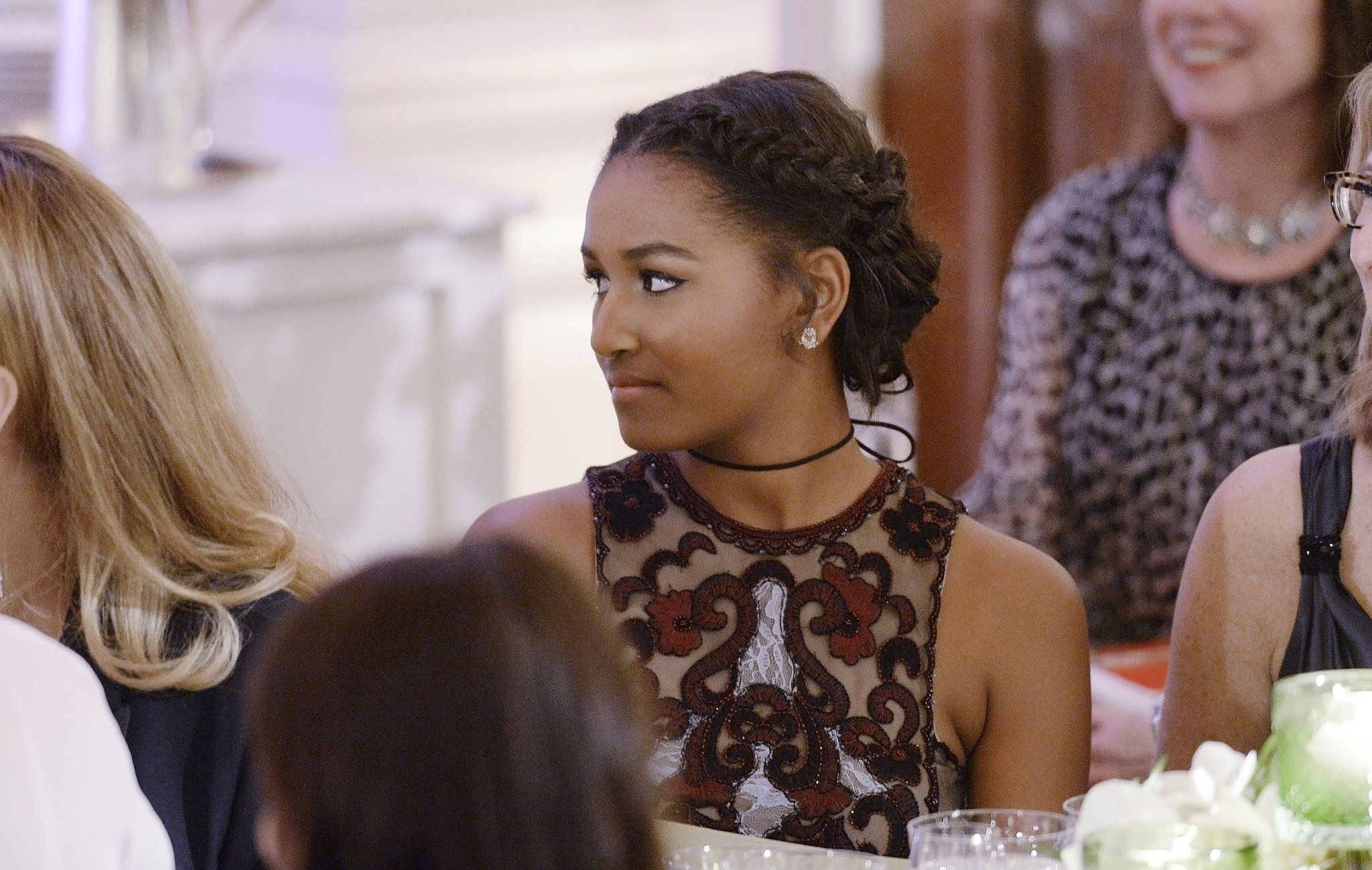 Sasha obamas braided updo will give you hair goals popsugar sasha obamas braided updo will give you hair goals pmusecretfo Images