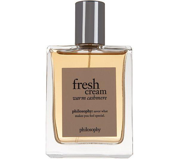Philosophy Fresh Cream Warm Cashmere Eau De Toilette 2 Fl Oz Qvc Com Fresh Cream Philosophy Fresh Cream Fragrance Spray