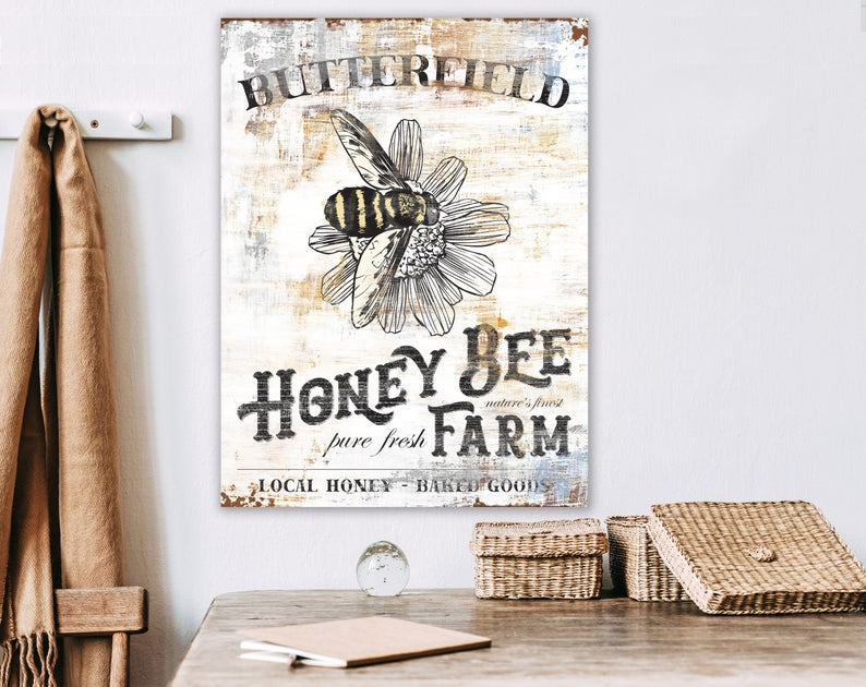 Rustic Chic Large Farmhouse Sign Custom Vintage Sign