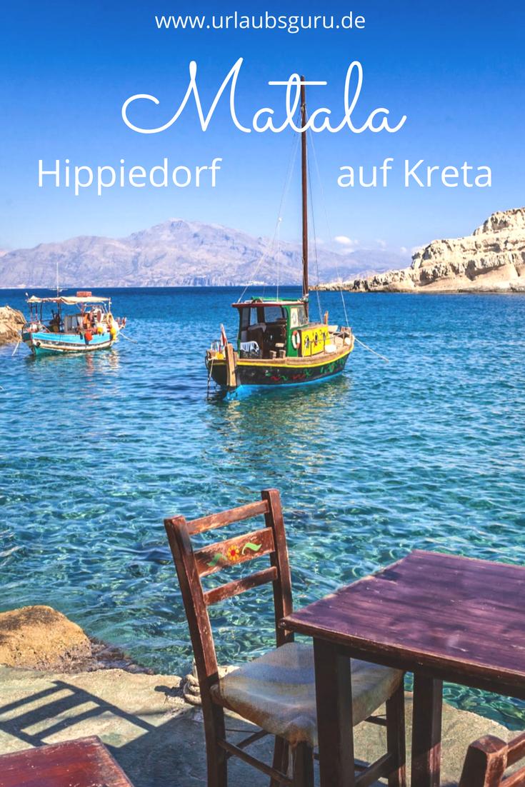 Besucht das Hippiedorf Matala auf Kreta #traveltogreece