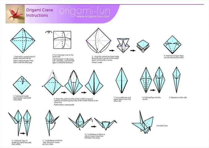 Lovely Easy Origami Crane Instructions For Kids Origami Swan