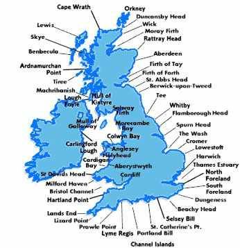 Map Of Ireland Headlands.Another Inshore Waters Map Shipping Forecast Map British Isles