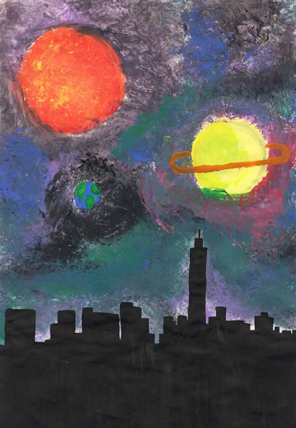 Nasa Sponsored Children S Drawing Contest Depicting The Future
