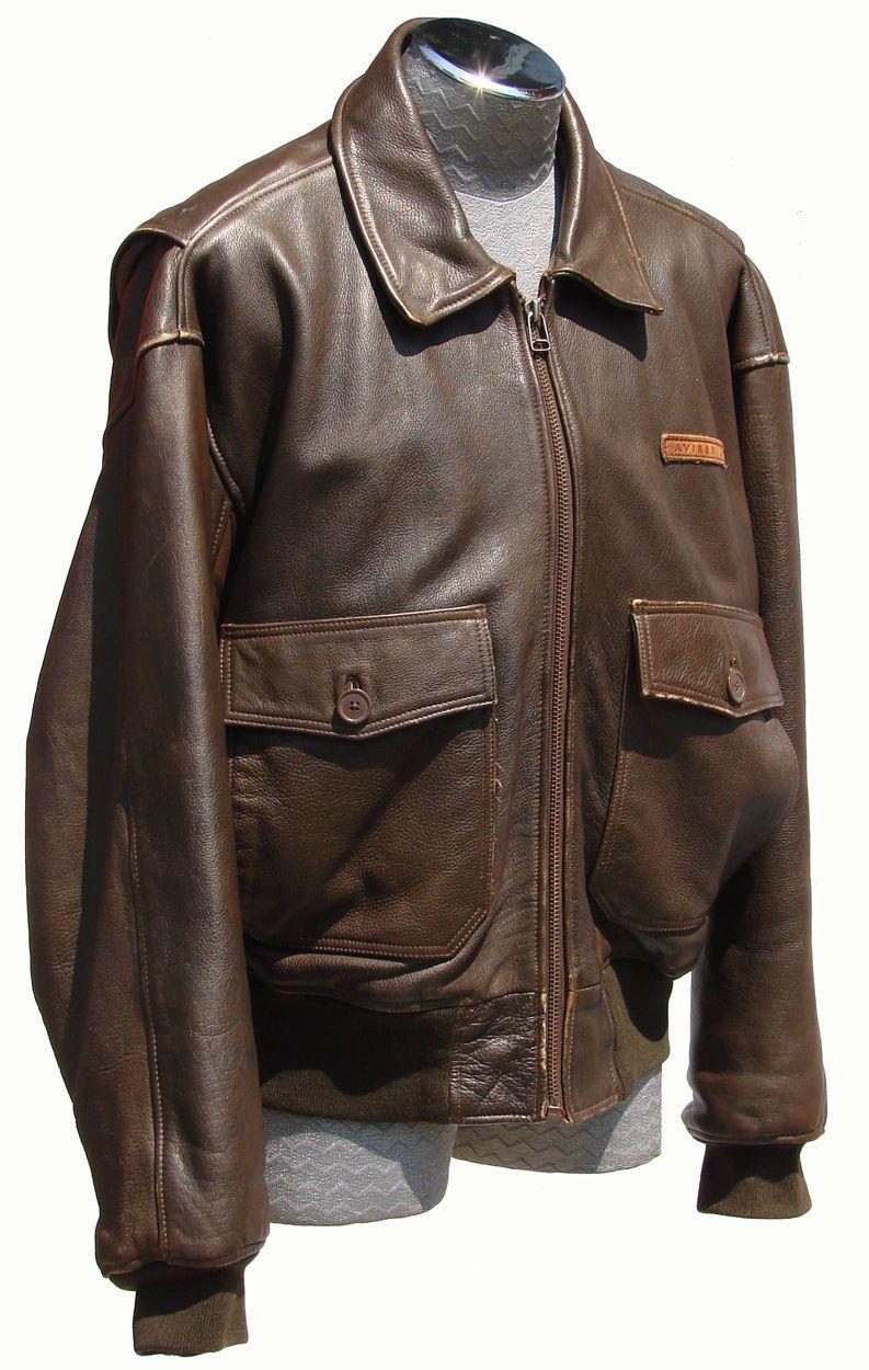 Vintage 1980s Avirex G-1 Leather Flight Jacket // Naval Pilot ...