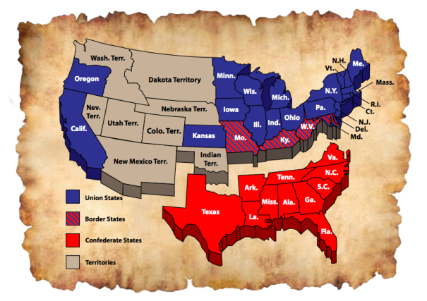 Us Map Confederate States Posts about History on Know It All | Civil war confederate, Civil