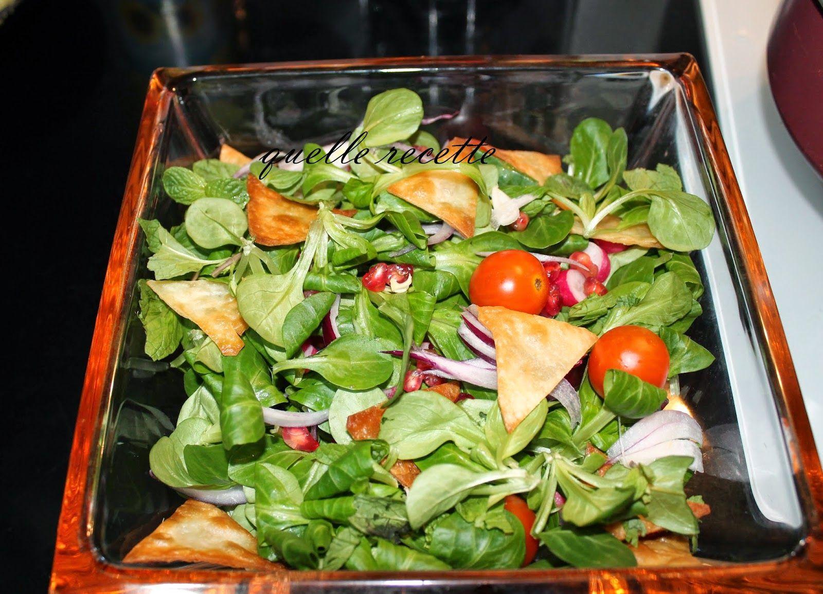 Quelle recette ?: Fattouche (Salade Libanaise) | Salade ...