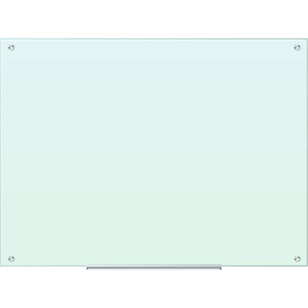 U Brands 47 In X 35 In White Frosted Surface Frameless Glass Dry Erase Board 121u00 01 The Home Depot Glass Dry Erase Glass Dry Erase Board Dry Erase Board