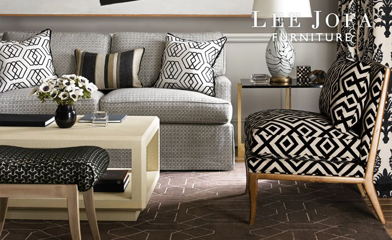 Lee Jofa Furniture With A Black U0026 White Theme. Available At The Du0026D  Building Suite