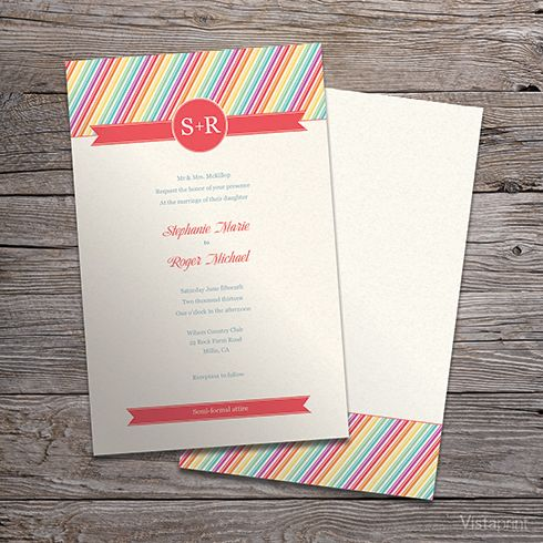 rsvp rainbow wedding cards. colorful paper lanterns rainbow, Wedding invitations