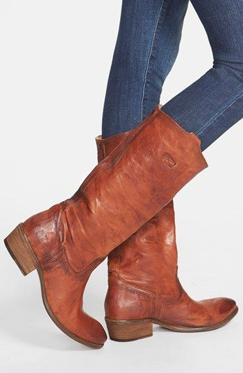 You can't be an equestrian without a good pair of boots! These #Frye 'Carson Tab' Tall Boots are perfect.