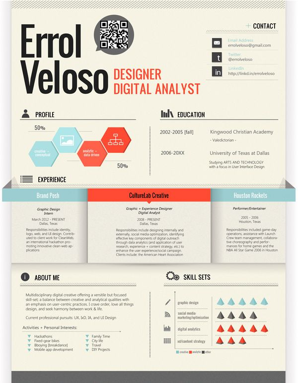 50 Awesome Resume Designs That Will Bag The Job Graphic designer - junior sales resume