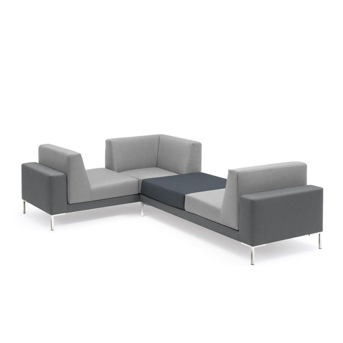 Freistil Rolf Benz Freistil 183 Sofa 270x186cm Grau Gestell Winkelfuß Glanzchrom Living Room Modern Furniture Modern Room