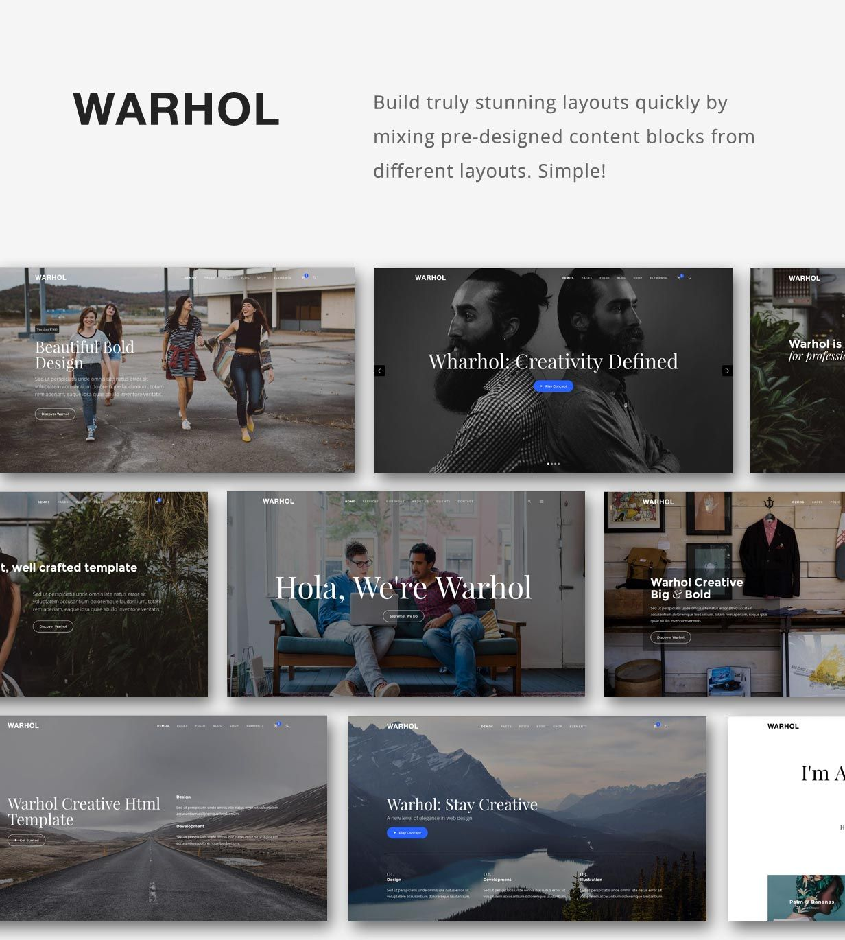 Warhol - Creative Multipurpose HTML Template | Warhol and Template