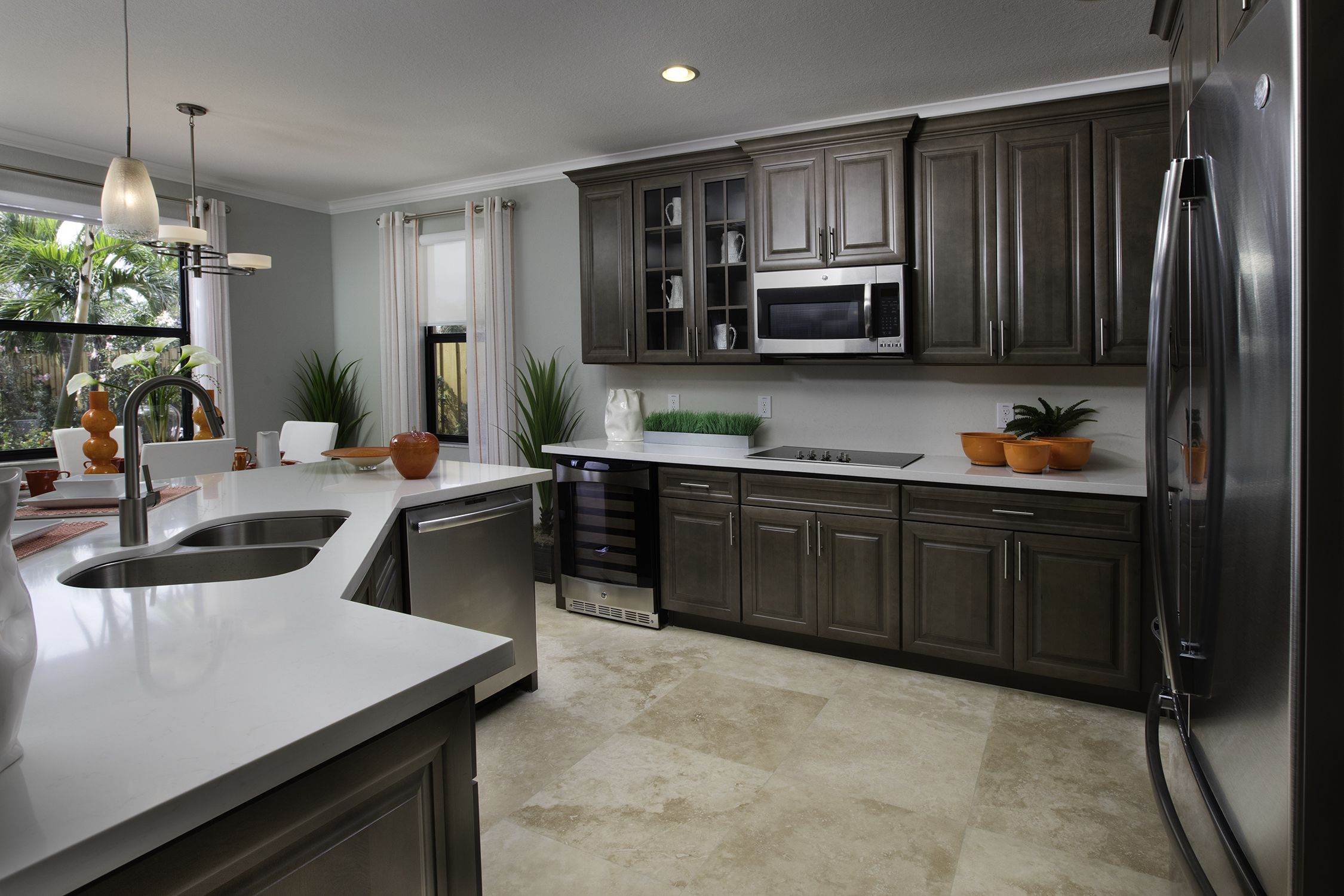 Madison Pointe | The Apollo | Dream Kitchen | Dark Cabinets | Luxury Homes  | Doral, FL | Lennar | Lennar DREAM Kitchens | Pinterest | Kitchens, Kitchen  Cost ...