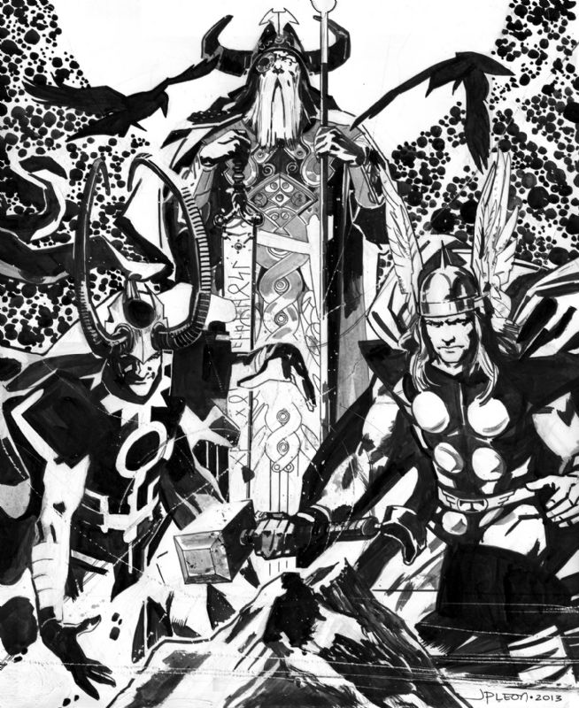 "browsethestacks: ""Thor Loki And Odin by John Paul Leon """