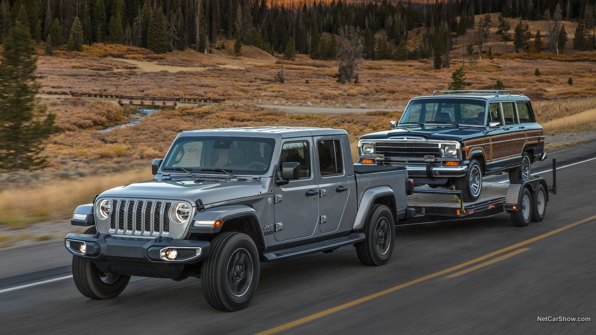 Jeep 2020 Gladiator And Jeep Wagoneer Jeep Gladiator Pickup Trucks Jeep Pickup
