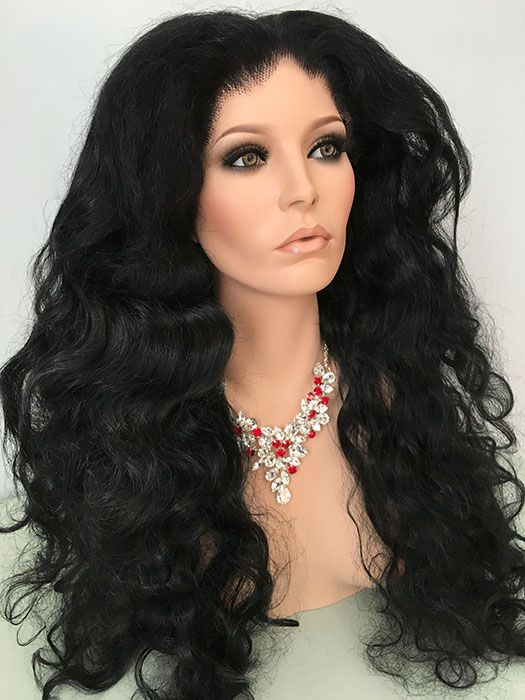 Diana Ross Lace Front Wig Drag Queen 80s 90s Wavy Black Hair