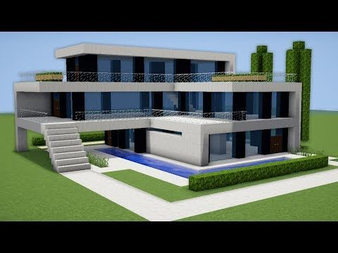 Minecraft: How to Build a Small & Easy Modern House Tutorial (#1) - YouTube   Maison minecraft ...