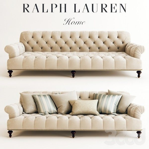 RALPH LAUREN INDIAN COVE LODGE SOFA ❤ Liked On Polyvore Featuring Home,  Furniture, Sofas, Polyester Couch, Tufted Sofa, Polyester Sofa, Ralph Lauren  ...