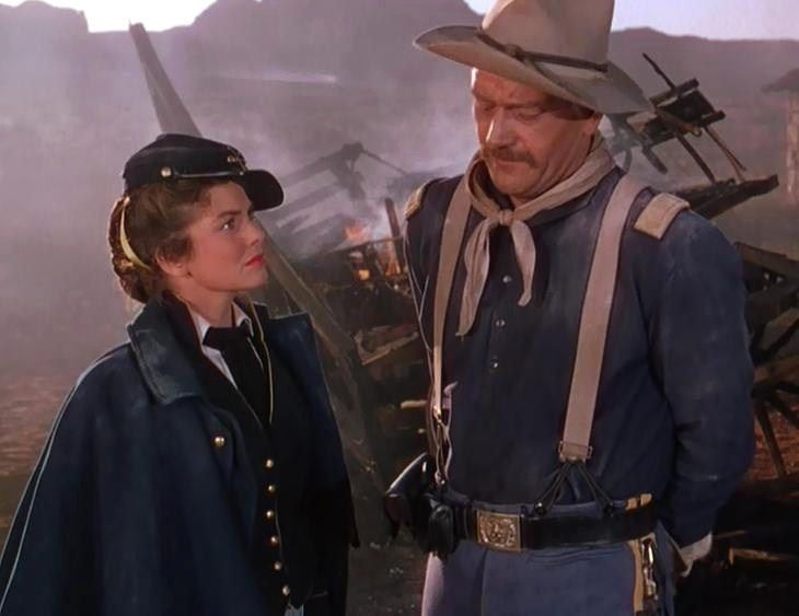 """Scene with John Wayne and Joanne Dru from """"She Wore a Yellow Ribbon"""""""
