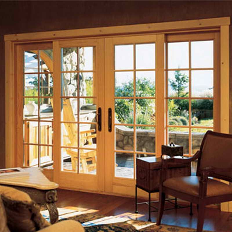 Good Sliding Patio French Doors Maybe Just Stained Wood Instead
