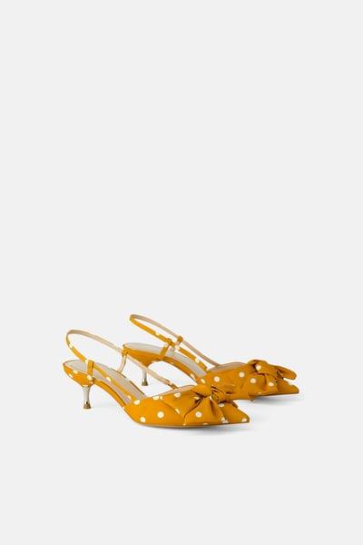 Polka Dot Tie Heels Kitten Heel Shoes Tie Heels Kitten Heels