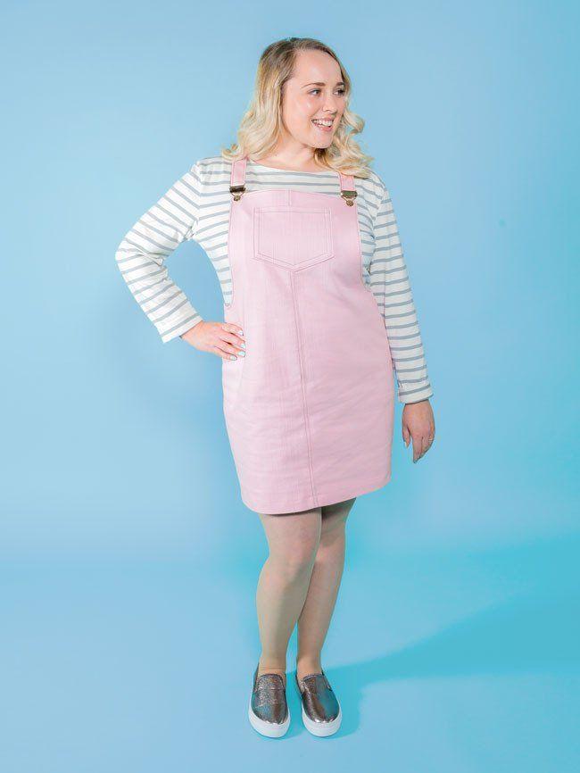 Cleo pinafore + dungaree dress | Dungaree dress, Dress sewing ...