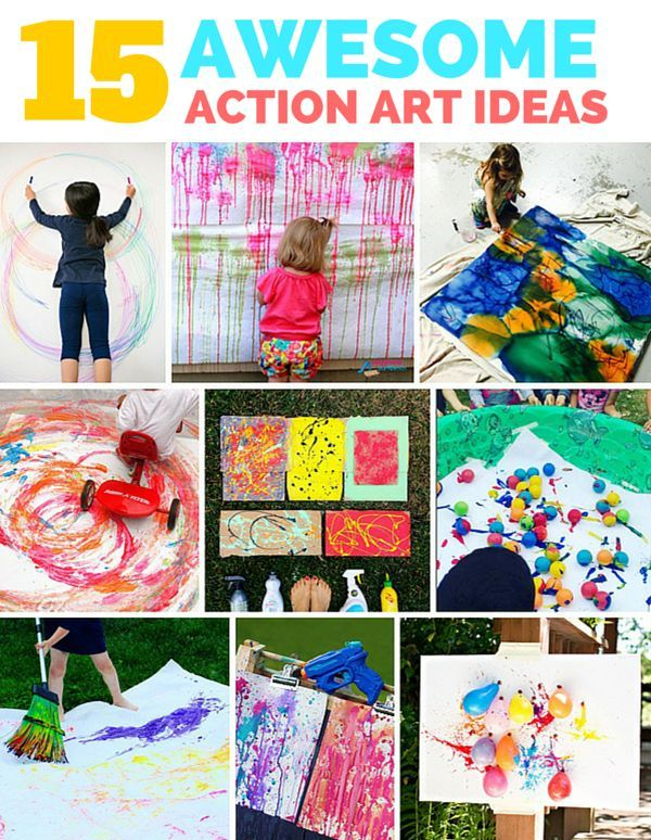 15 Awesome Outdoor Action Art Ideas For Kids Fun Art Ideas For My