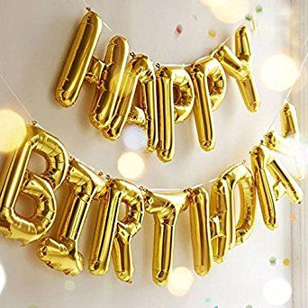 Amazon Happy Birthday Balloons OUTGEEK Foil Letters Mylar For Party Decoration Toys Games