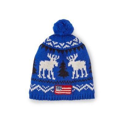 ae825b82f36 Ralph Lauren Kids Reindeer Cotton-Blend Hat