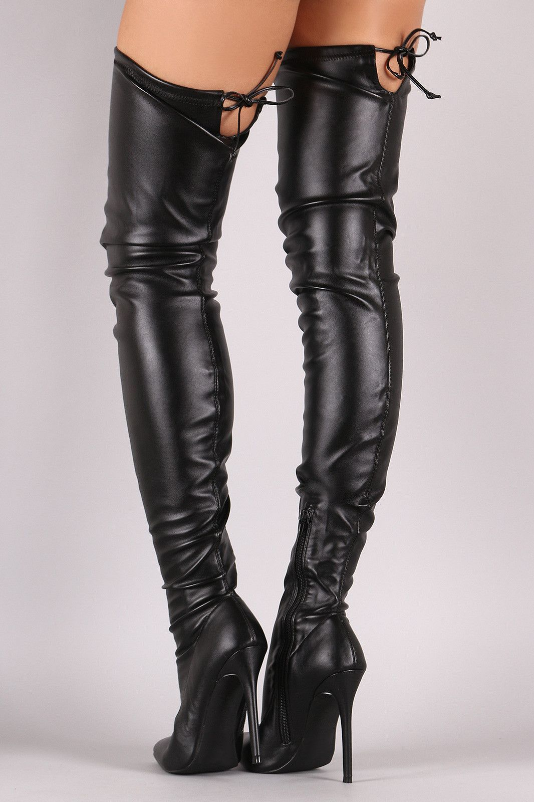 9d5157ed4dc Liliana Leather Over the Knee Stiletto Boots. I have these and I ...