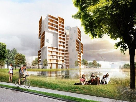 University of Southern Denmark Student Housing Winning Proposal / C.F. Møller Architects,Courtesy of C.F. Møller Architects