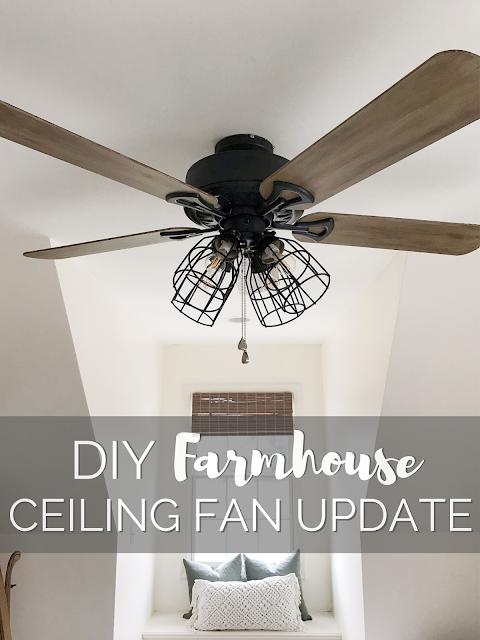 One Room Challenge Week 4 Diy Farmhouse Ceiling Fan Update